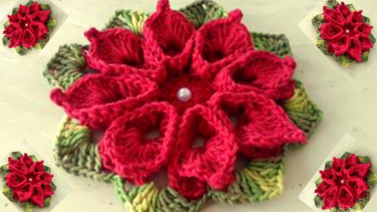 Como Fazer Flor De Crochê Em Barbante Passo A Passo Com Cristina Coelho Alves