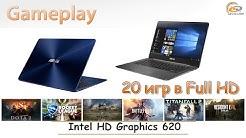 Intel HD Graphics 620: мобильный gameplay в 20 играх при Full HD
