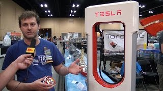 Tesla Supercharger Made Entirely of LEGO