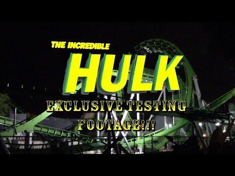 EXCLUSIVE FIRST LOOK Universal Orlando Incredible Hulk Roller Coaster Testing Footage!
