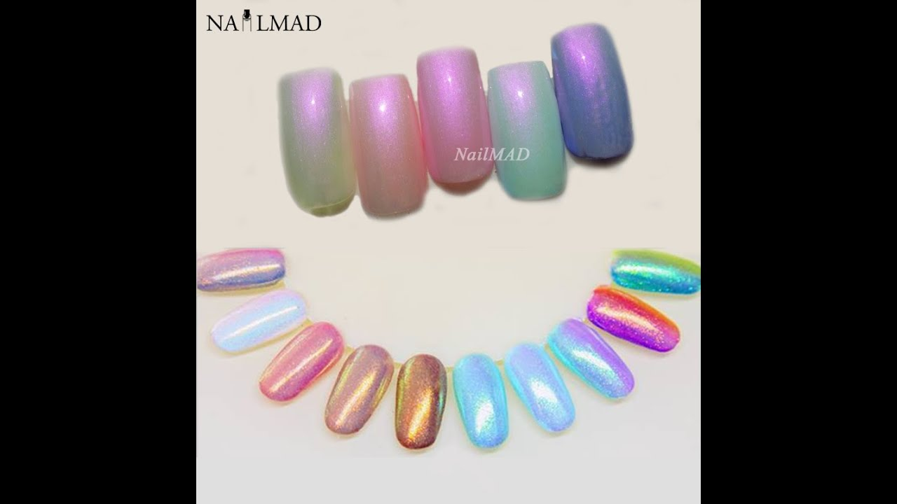 Mermaid Nail Powder by NailMAD! Let\'s get a mermaid Nail in this ...