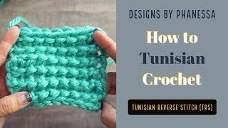 How to Crochet the Tunisian Reverse Stitch (trs)
