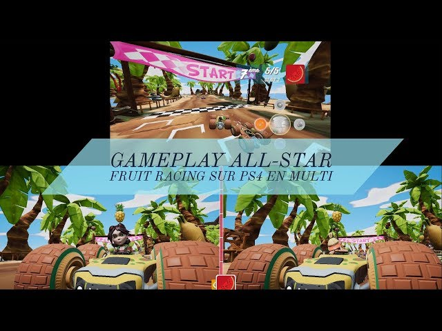Gameplay All Star Fruit Racing sur PS4 en multi