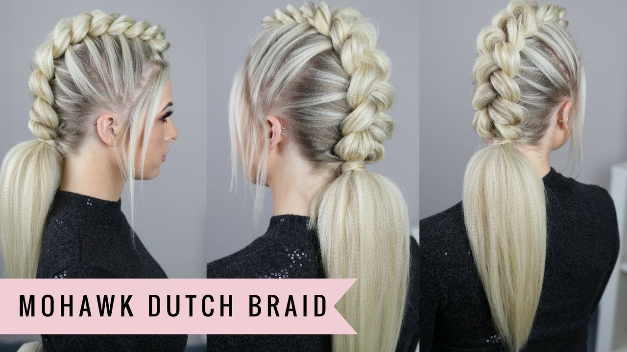 Mohawk Dutch Braid by SweetHearts Hair - YouTube