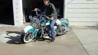 1958 Harley Panhead kickstart