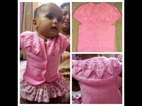 35c18d581 Easy Babygirl Sweater Design(0-3 months)part-2