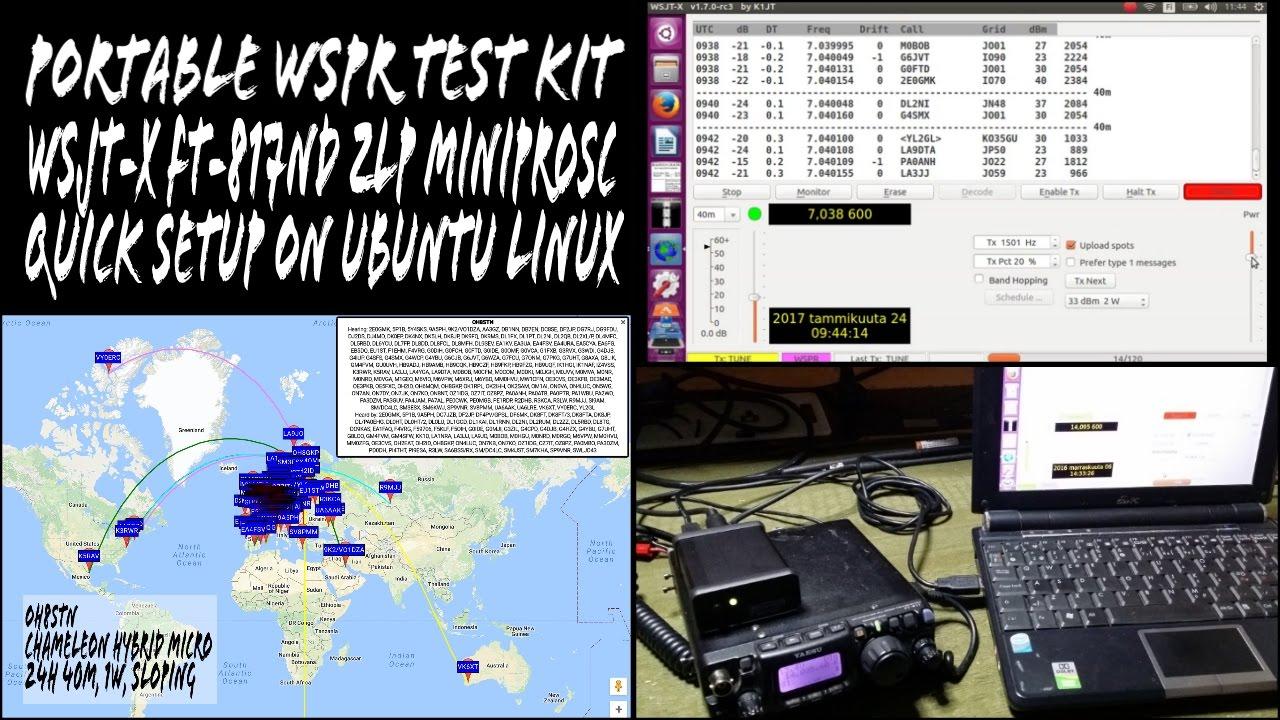 WSPR WSJTX Quick Setup MiniProSC FT-817ND Ubuntu Linux EP05