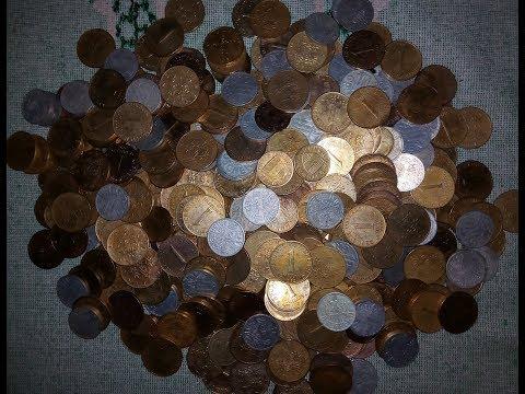 Sondeln Am Strand. Коп на озере в Австрии. Три кольца и 84 монеты. №4.