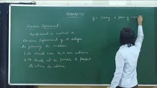 I PUC | MATHEMATICS | PROBABILITY - 01