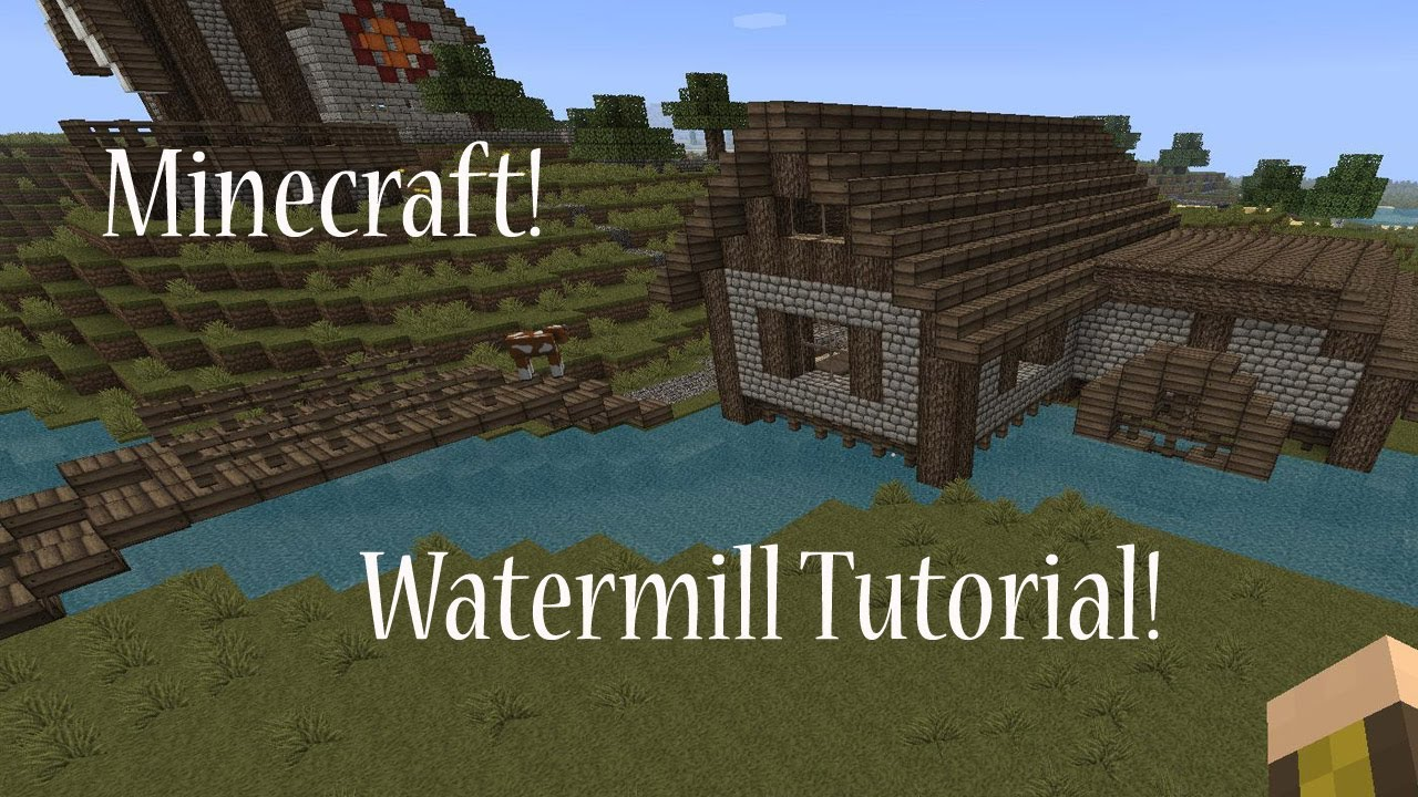 Minecraft; Watermill Tutorial - YouTube Thelordoftherings