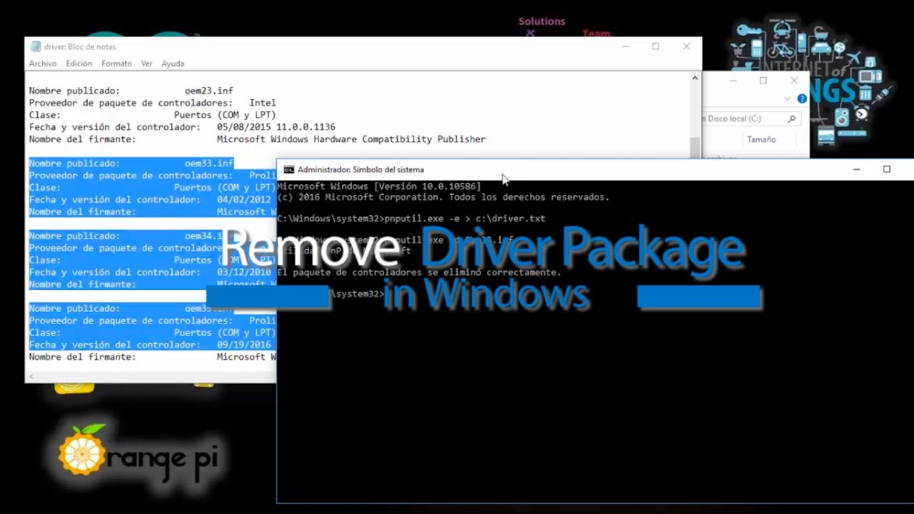 Remove Driver Package in Windows