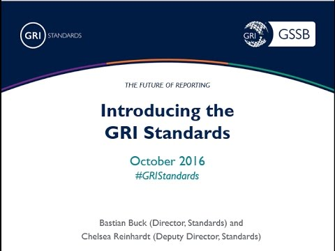 Introducing the GRI Standards
