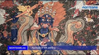 Applique or Silk painting Full HD 1080p