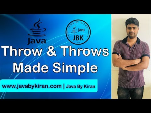 Throw and Throws Made Simple-By Kiran Sir-JAVA By Kiran,Pune