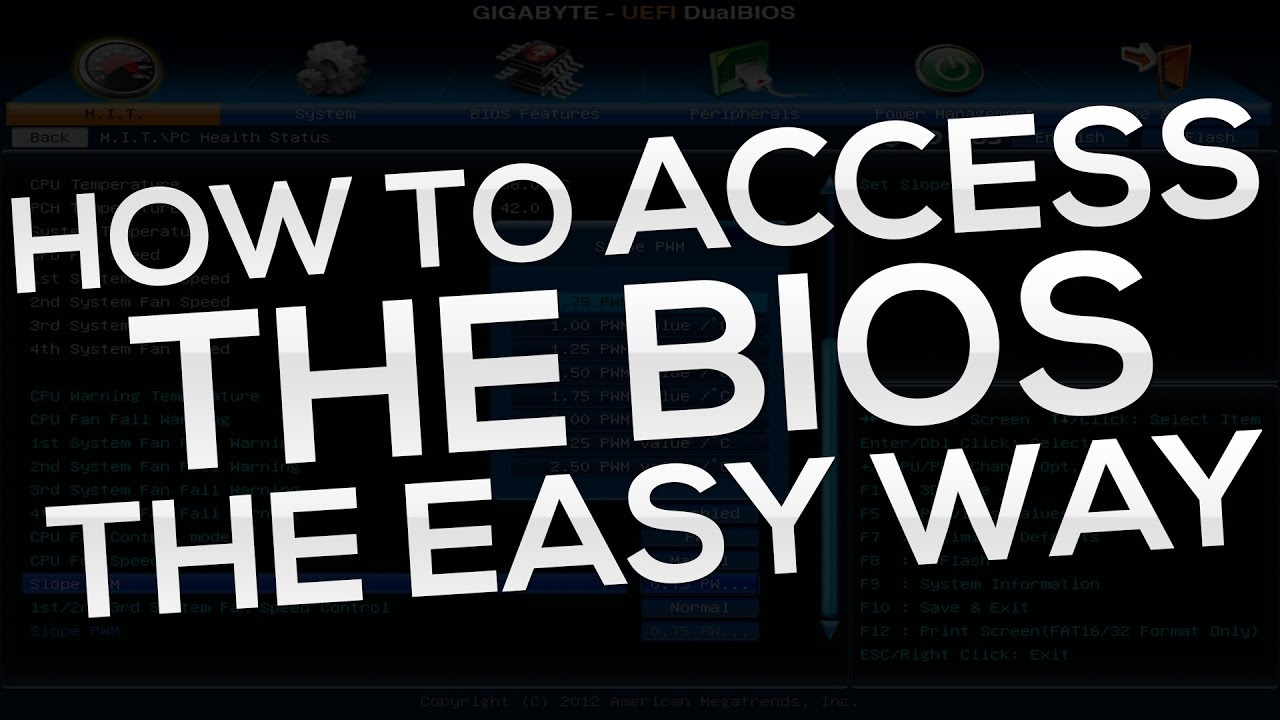 HOW TO ACCESS THE BIOS ON A PC (IF YOUR PC BOOTS TOO FAST)