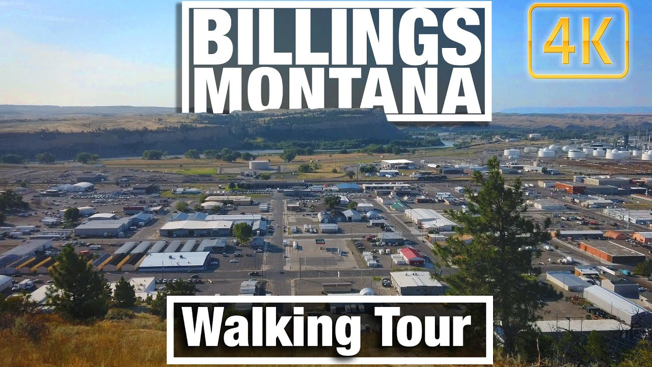 4K City Walks - Walking Billings MT Rimrock Chief Black Otter Trail - Virtual Travel Walking Trails