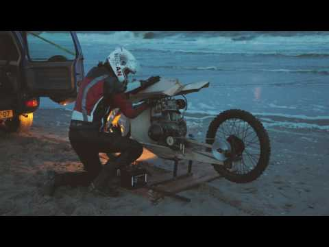 Wooden Motorcycle That Runs On Algae Oil (english subs)
