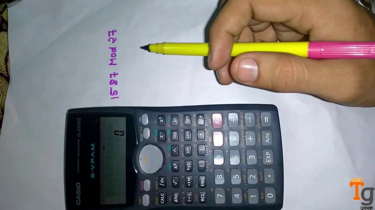 Find Mod In Scientific Calculator | Any Calculator