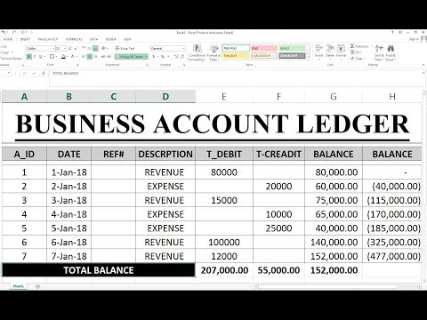 #88 How To Make Debit Credit Sheet In Excel Hindi