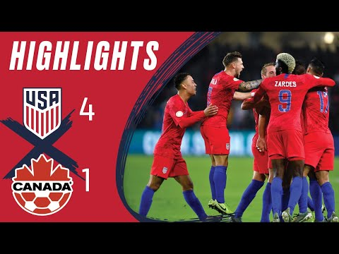USMNT 4-1 CANADA | Zardes Double DOWNS Canada | Highlights