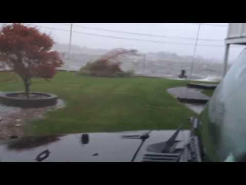 Super Storm Sandy @ 5 pm   Shark RIver Hills, NJ