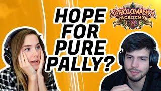PURE PALADIN GOOD?! | Scholomance Academy | ALLIE VS DOG | Hearthstone