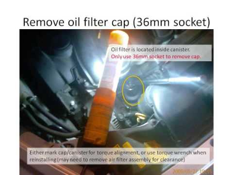 How to change 2006 Volvo S40 2 4i Oil & Filter - YouTube