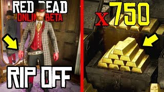 750 GOLD BAR SPENDING SPREE in Red Dead Online! BUYING EVERYTHING with RDR2 Online Gold!
