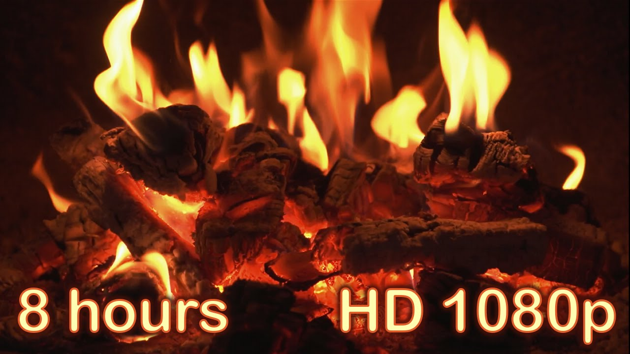 ✰ 8 HOURS ✰ Best Fireplace HD 1080p video ✰ Relaxing fireplace ...