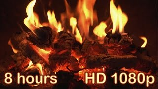 8 HOURS Best Fireplace HD 1080p Video Relaxing Fireplace Sound Full HD