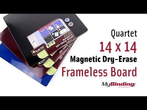 """quartet-14""""-x-14""""-magnetic-dry-erase-frameless-board"""
