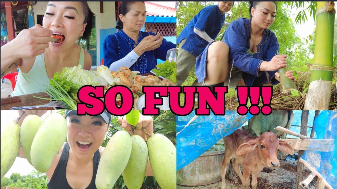 MORNING WORKOUT + FARM LIFE (MANGO PICKING, BAMBOO HARVESTING) + FAMILY CASUAL MUKBANG   SASVlogs