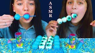 ASMR NERDS ROPE JELLY CANDY RACE, NIK L NIP WAX BOTTLE, BLUE PLANET GUMMY | Eating Sound Lilibu