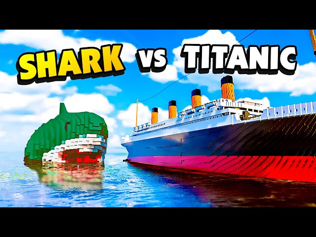 TITANIC Gets Destroyed by Unstoppable SHARKS - Teardown Mods