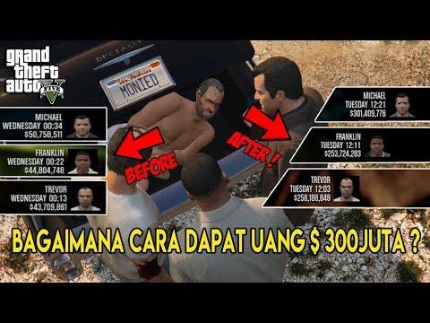 NEW 2019 ! JANGAN MENYESAL NAMATIN GTA5 SETELAH TAU CARA DAPAT UANG 300 JUTA DOLAR    STOCK MARKET