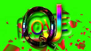 Q Love J Letter Green Screen For WhatsApp Status | Q & J Love,Effects chroma key Animated Video