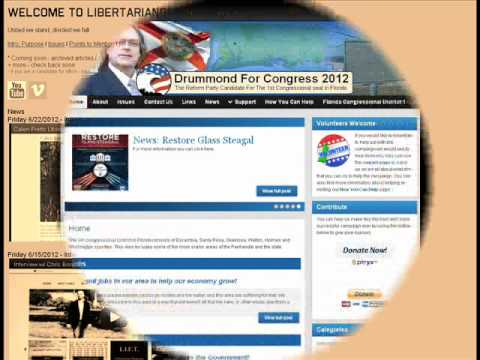 Interview w/  William Drummond Reform Party US House Candidate Florida District 1 2012