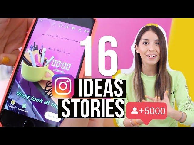 16 TRUCOS E IDEAS PARA TUS STORIES EN INSTAGRAM - GIFS - FOTOS - VIDEOS - EFECTOS