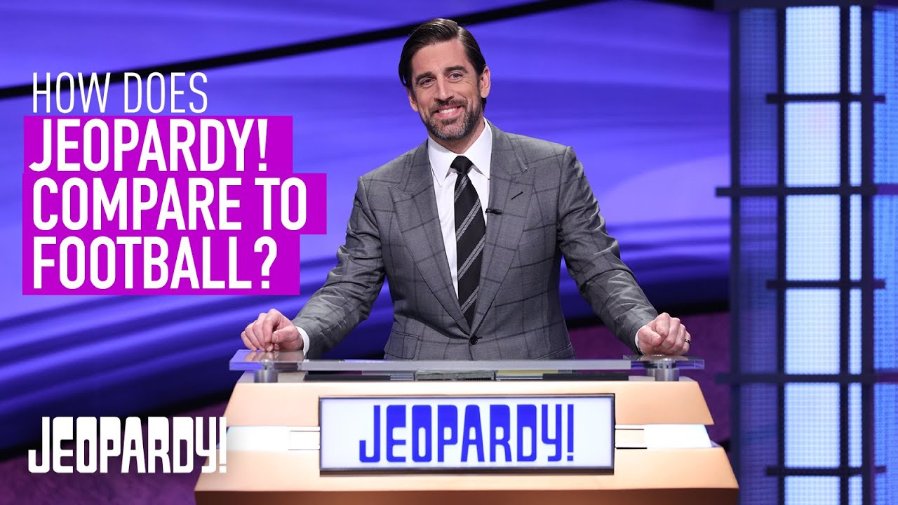 Aaron Rodgers: How Does Jeopardy! Compare To Football? | Guest Host Exclusive Interview | JEOPARDY!