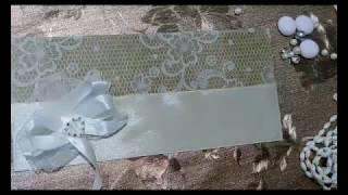 Как сделать свадебный конверт/How to make wedding envelope