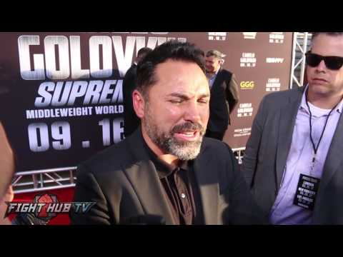 "Oscar De La Hoya on Golovkin ""hes funny, I Love The Guy, He's Good For Boxing"""