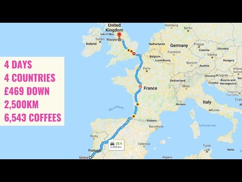 DRIVING ACROSS EUROPE IN THE MOTORHOME