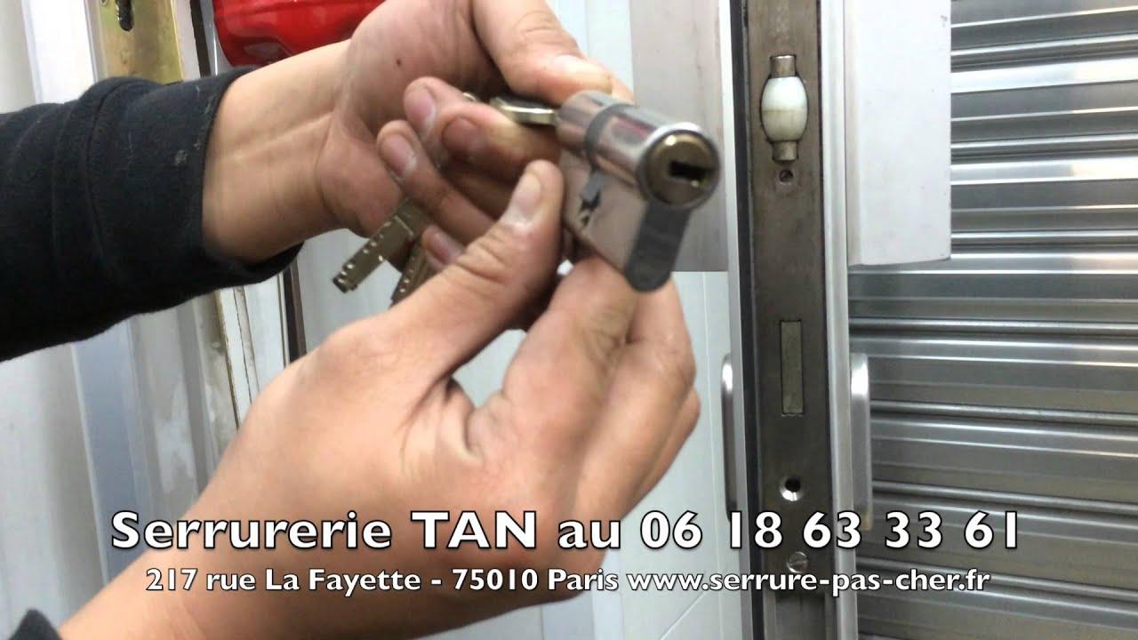 superbe Tutoriel changer un cylindre de serrure de porte: cylindre européen  vachette radial nt - YouTube
