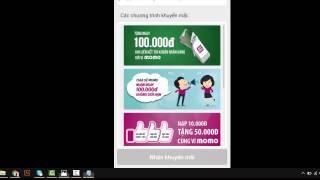 Hướng dẫn sử dụng ví điện tử Momo