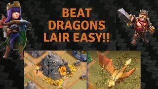 BEAT DRAGONS LAIR EASY | CLASH OF CLANS |3 STAR ATTACK