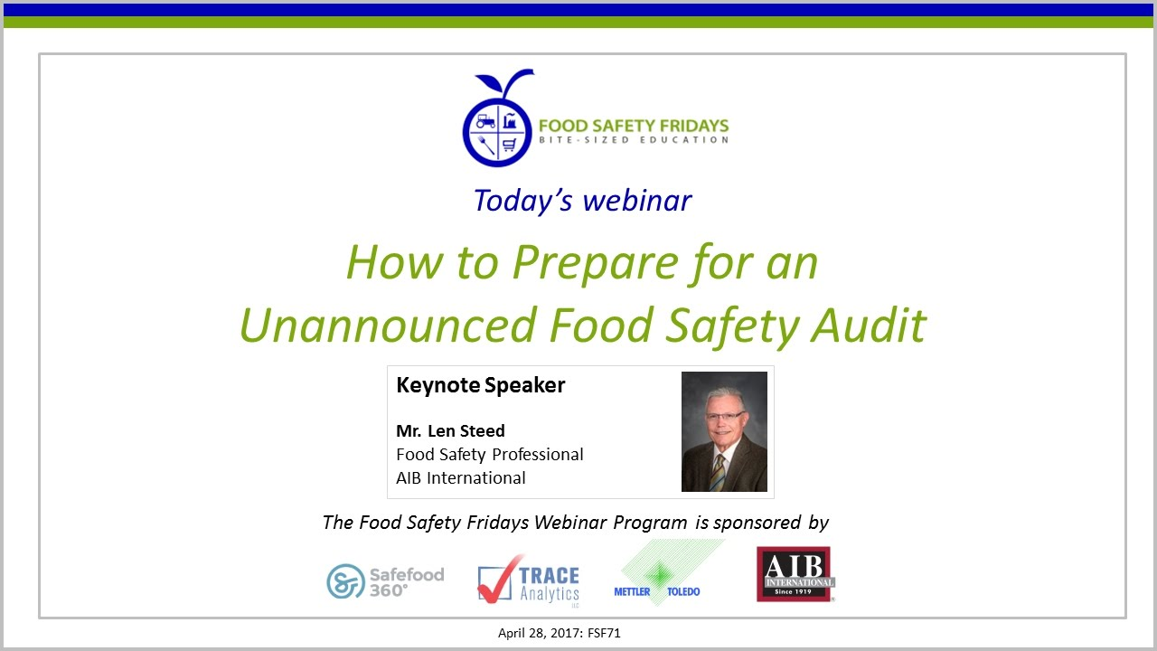 How to Prepare for an Unannounced Food Safety Audit