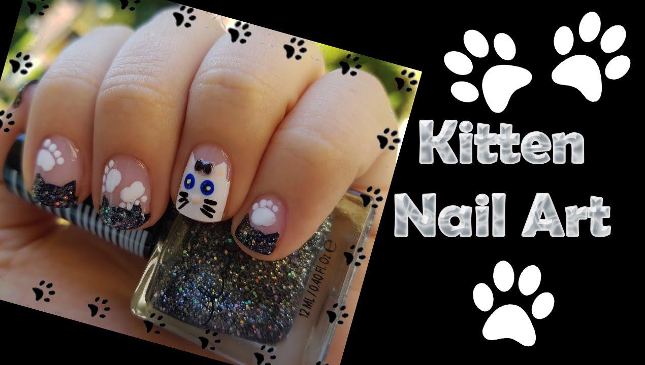 Kitten Nail Art - Gatti - YouTube