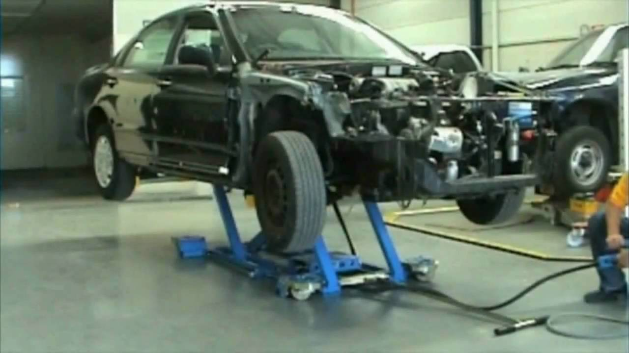 Cartar Mobile Lift In Sterling Auto Body Center Youtube