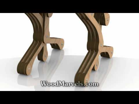 Slice Chair: 3D Assembly Animation (1080HD)