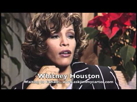 Whitney Houston with Jimmy Carter... The Preachers Wife